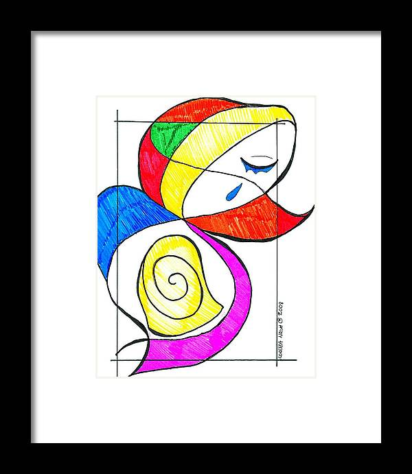 Framed Print featuring the drawing Mother by Loretta Nash