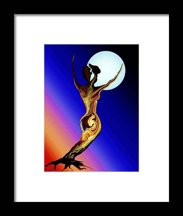 Tree Female Framed Print featuring the digital art Mother Nature by Robin Monroe