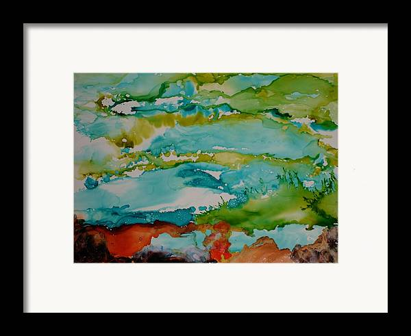 Wave Framed Print featuring the mixed media Mother Ocean by Susan Kubes