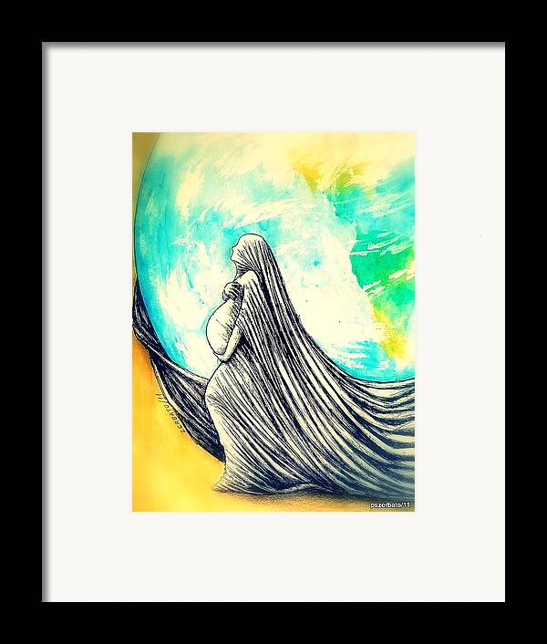 Mother Framed Print featuring the digital art Mother by Paulo Zerbato