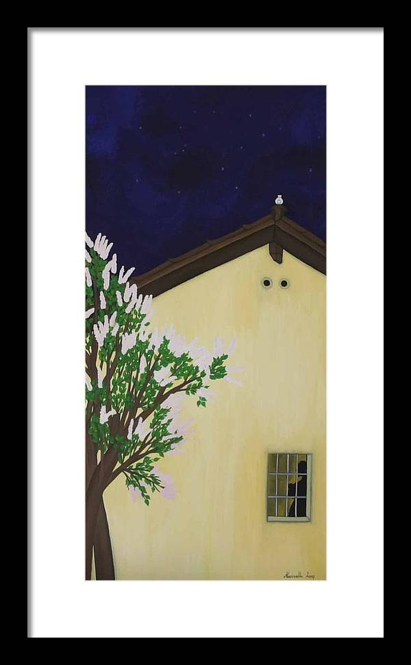 Marinella Owens Framed Print featuring the painting Mother Peace by Marinella Owens
