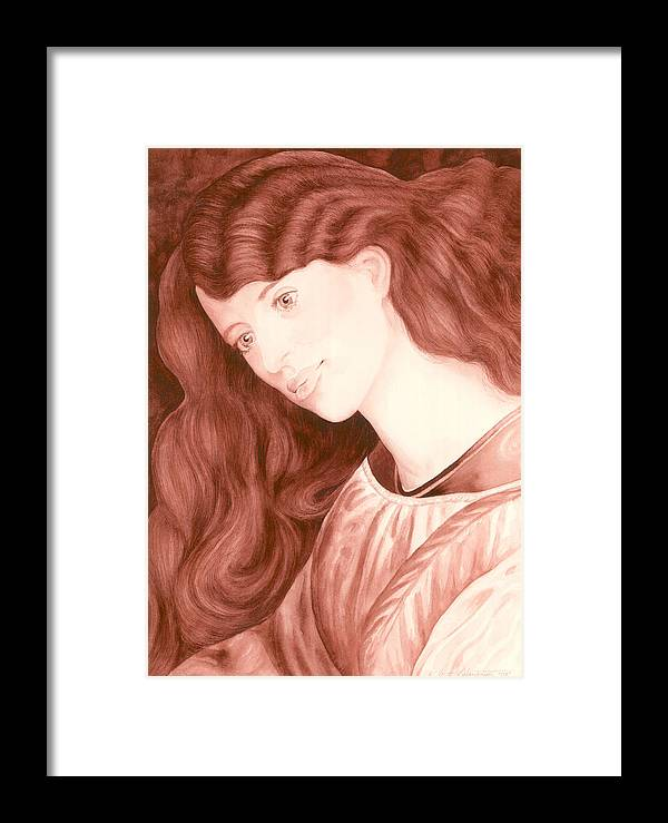 Cory Calantropio Framed Print featuring the painting Mother Sees Child by Cory Calantropio