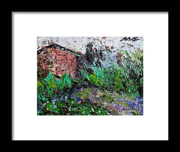 Garden Paintings Framed Print featuring the painting Mother by Seon-Jeong Kim