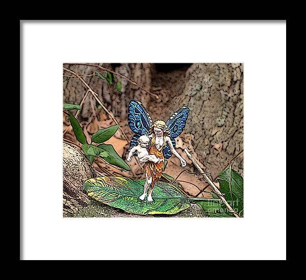 Fairy Framed Print featuring the photograph Motherhood by Jefferson Hobbs