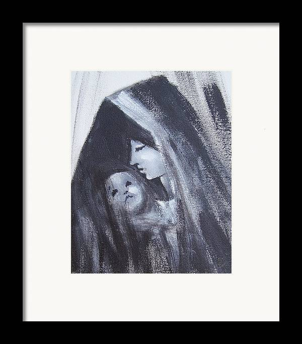Painted Scetch Framed Print featuring the painting Motherly Love by Martha Mullins
