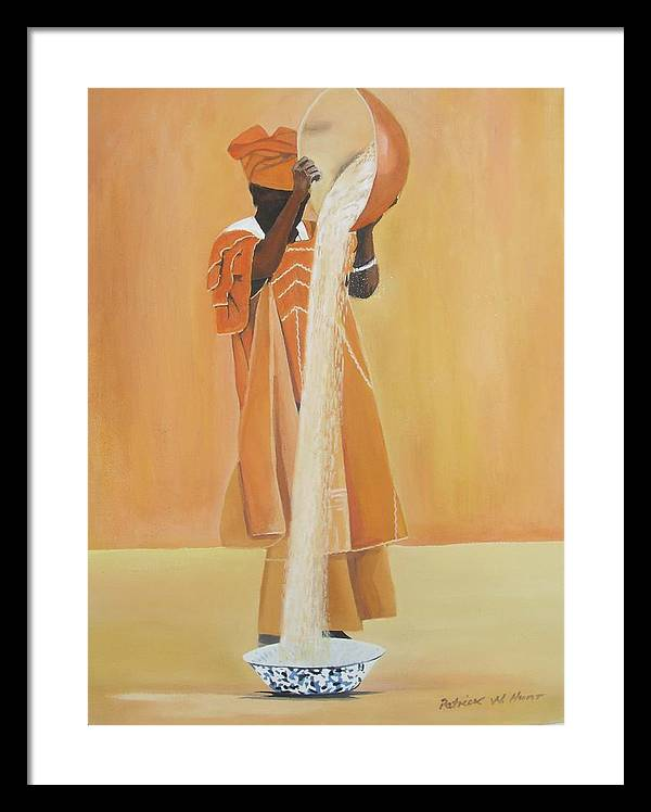 African Art Framed Print featuring the painting Mother's Work by Patrick Hunt