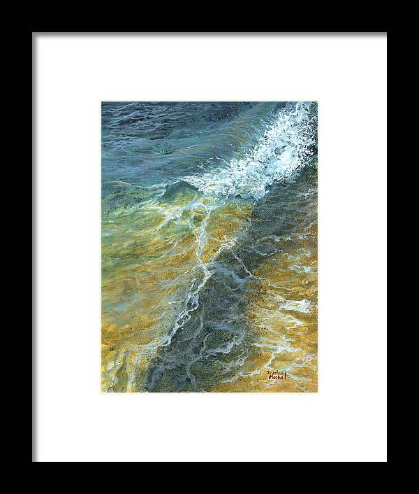 Darice Framed Print featuring the painting Motion Of The Ocean by Darice Machel McGuire