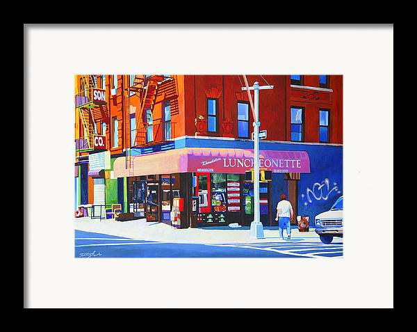 New York City Framed Print featuring the painting Mott Street by John Tartaglione