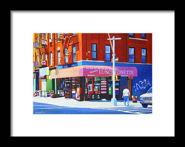 New York City Framed Print featuring the painting Mott Street by John Tartaglione