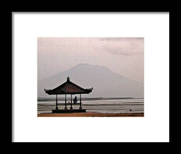 Bali In Indonesia Framed Print featuring the photograph Mount Agung. Bali. by Andy Za