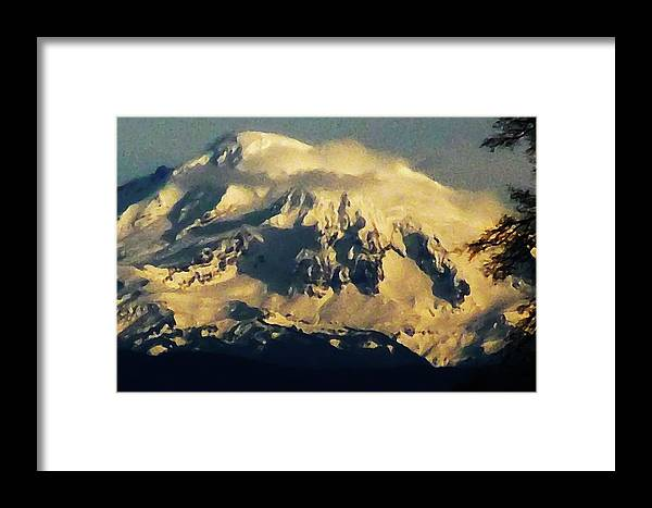 Nature Framed Print featuring the photograph Mount Baker by Dawna Raven Sky