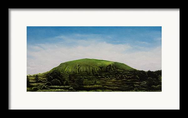 Landscape Framed Print featuring the painting Mount Coolum by Joe Michelli