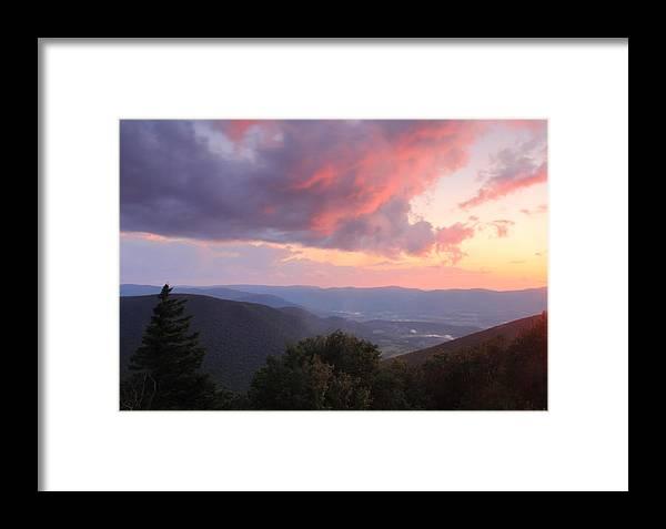 Berkshires Framed Print featuring the photograph Mount Greylock Sunset by John Burk