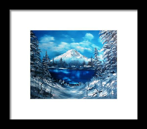 Lanscapes Framed Print featuring the painting Mount Hood - Opus 2 by Larry Hamilton
