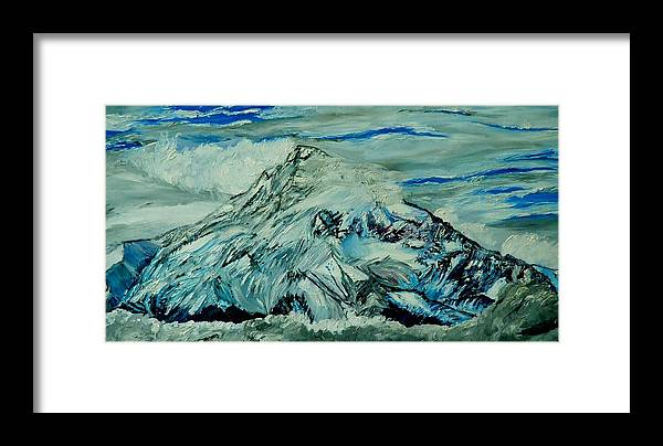Mountain Framed Print featuring the painting Mount Hood by Gregory Allen Page