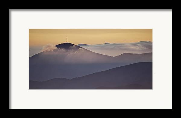 Parkway Framed Print featuring the photograph Mount Pisgah In Morning Light - Blue Ridge Mountains by Rob Travis