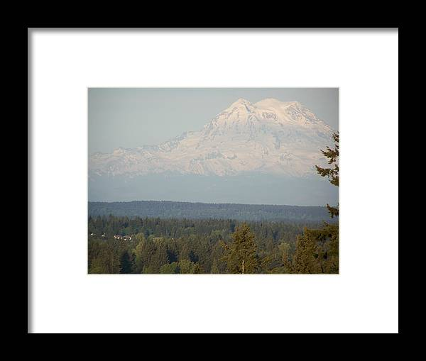 Digital Photography Framed Print featuring the photograph Mount Rainier 4 by Laurie Kidd