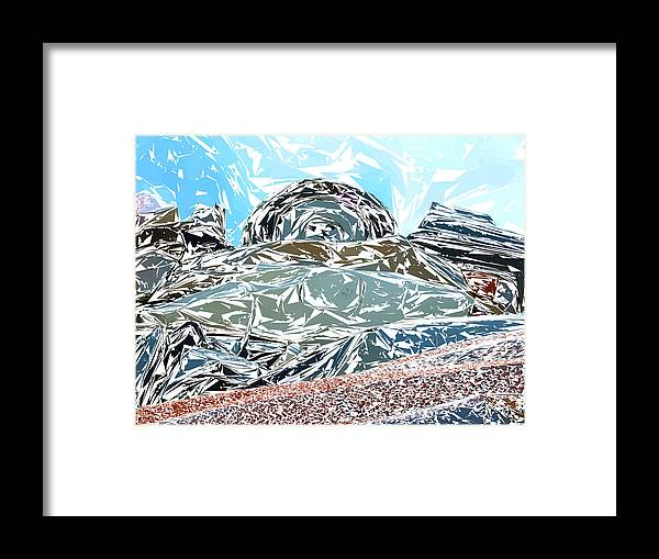 Auto Framed Print featuring the photograph Mount Saint Auto Crush by Stan Magnan