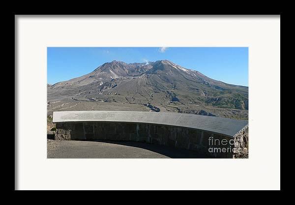 Volcano Framed Print featuring the photograph Mount St. Helen Memorial by Larry Keahey