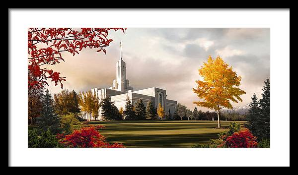 Mount Framed Print featuring the painting Mount Timpanogos Temple #2 by Brent Borup