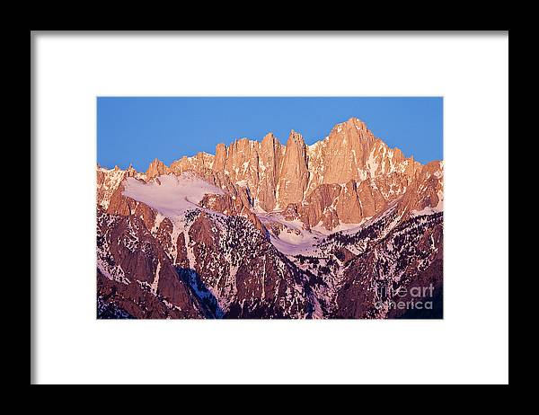 California Framed Print featuring the photograph Mount Whitney at Sunrise by Greg Clure
