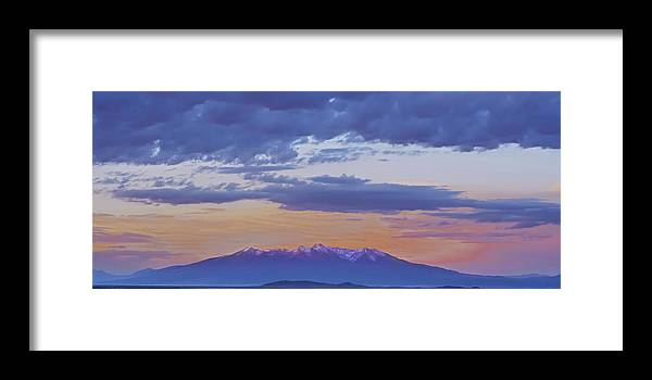 Sangre De Cristo Framed Print featuring the photograph Mountain Afterglow by Larry Bodinson