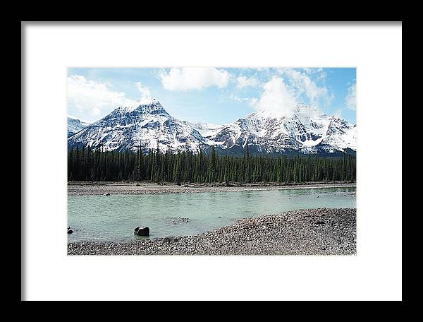 Landscape Framed Print featuring the photograph Mountain And Stone by Caroline Clark