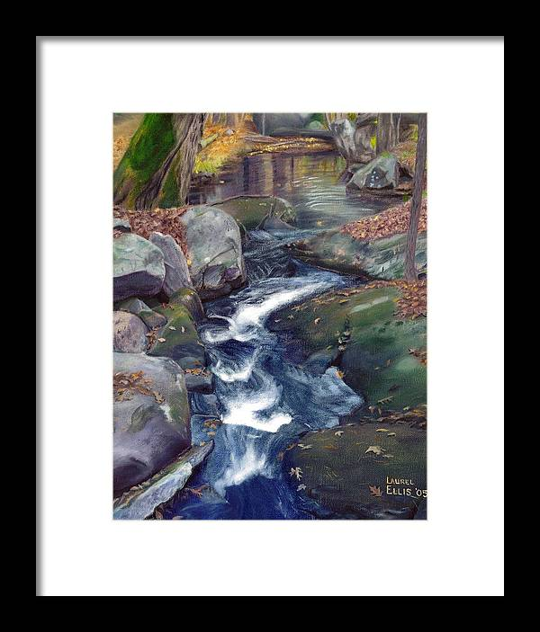 Landscape Framed Print featuring the painting Mountain Brook Iv by Laurel Ellis