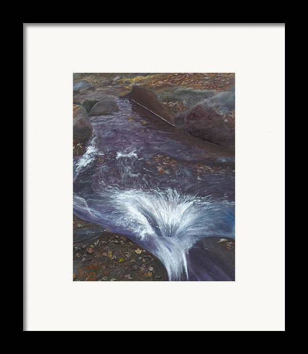 Landscape Framed Print featuring the painting Mountain Brook by Laurel Ellis