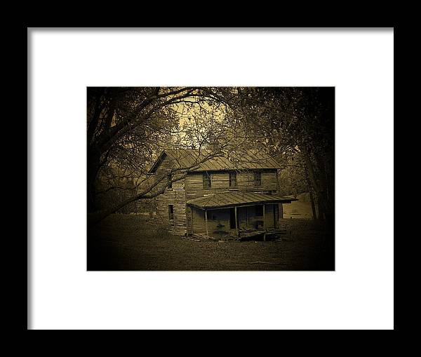 Shack Framed Print featuring the photograph Mountain Home by Michael L Kimble