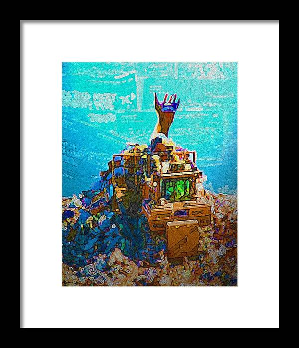 Credit Framed Print featuring the photograph Mountain Of Debt by Jennifer Ott