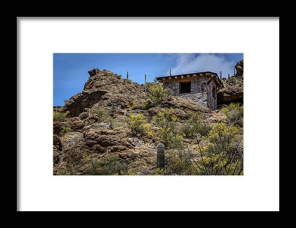 Gates Pass Framed Print featuring the photograph Mountain Overlook by Pat Scanlon