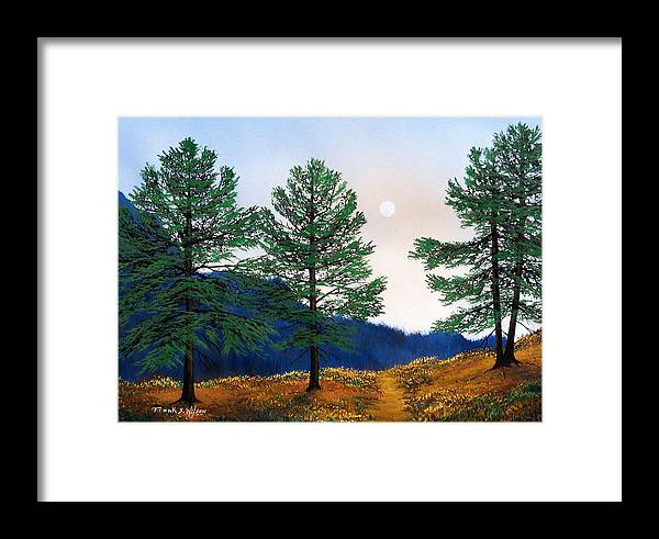 Framed Print featuring the painting Mountain Pines by Frank Wilson