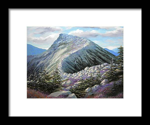 Landscape Framed Print featuring the painting Mountain Ridge by Frank Wilson