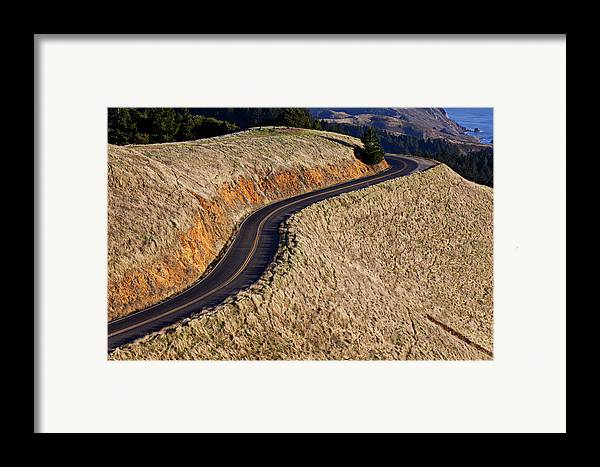 Road Framed Print featuring the photograph Mountain Road by Garry Gay