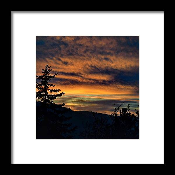Mountain Framed Print featuring the photograph Mountain Sky by Tiffany Messer