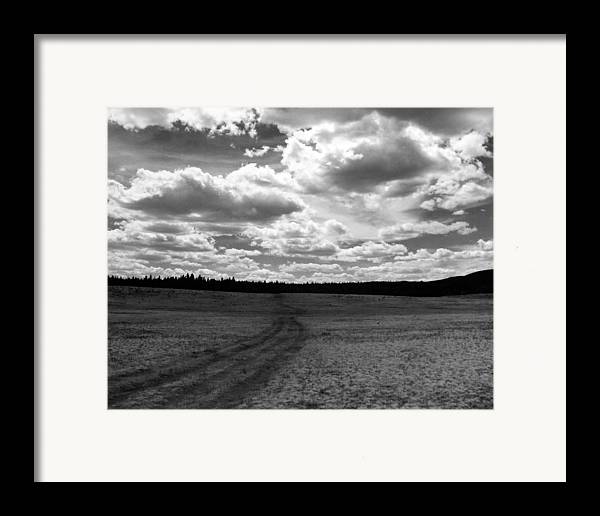 Landscape Framed Print featuring the photograph Mountain Skyscape by Allan McConnell