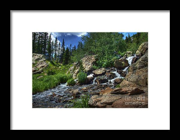 Landscape Framed Print featuring the photograph Mountain Stream 3 by Pete Hellmann