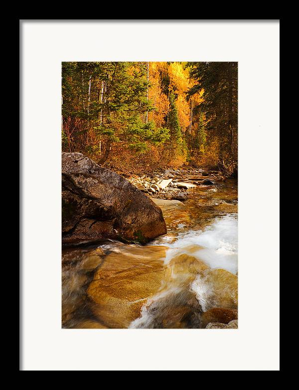 Autumn Framed Print featuring the photograph Mountain Stream In Autumn by Utah Images