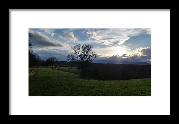 Mountain Framed Print featuring the photograph Mountain Sun by Jeff Harrell Jr