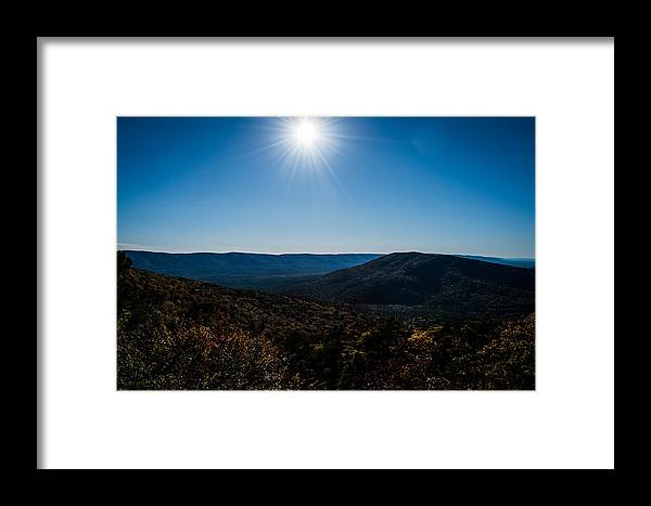 Landscape Framed Print featuring the photograph Mountain Sunburst by Denise Pennington