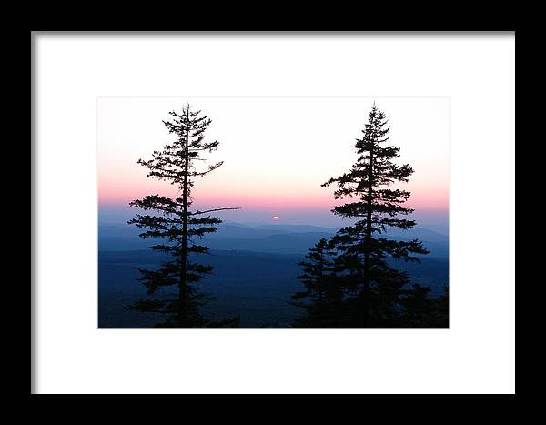 Mountain Framed Print featuring the photograph Mountain Sunset by Christa Walter