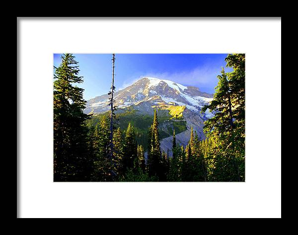 Mountain Framed Print featuring the photograph Mountain Sunset by Marty Koch