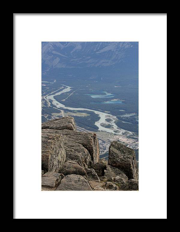 Rocky Mountains Framed Print featuring the photograph Mountain View by Mary Mikawoz