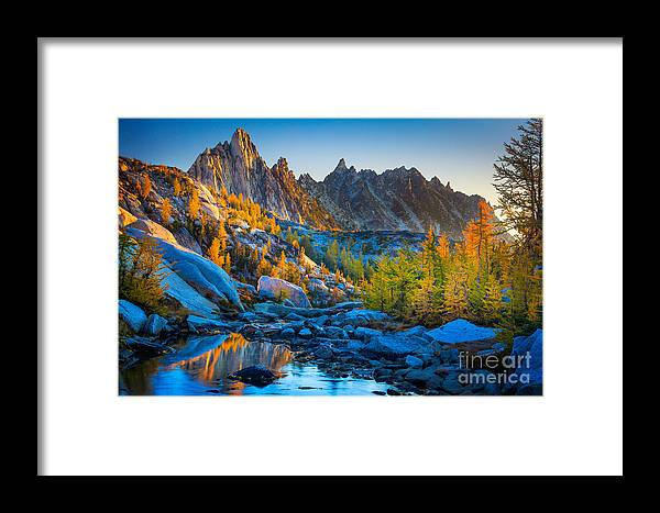 Alpine Lakes Wilderness Framed Print featuring the photograph Mountainous Paradise by Inge Johnsson