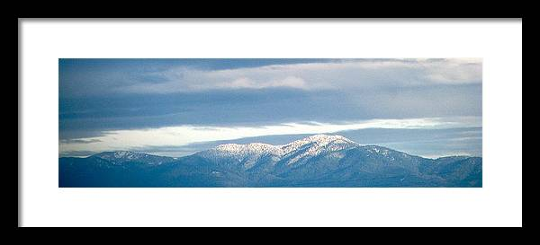 Digital Photograph Framed Print featuring the photograph Mountainous Skies by Maribel McIntosh