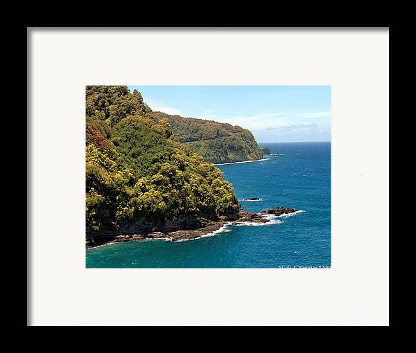 Landscape Framed Print featuring the photograph Mountains And Sea by Nicole I Hamilton