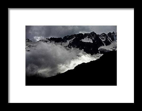Montagna Framed Print featuring the photograph Mountains Clouds 9950 by Marco Missiaja