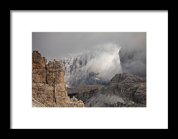 Montagna Framed Print featuring the photograph Mountains Depth 1150 by Marco Missiaja