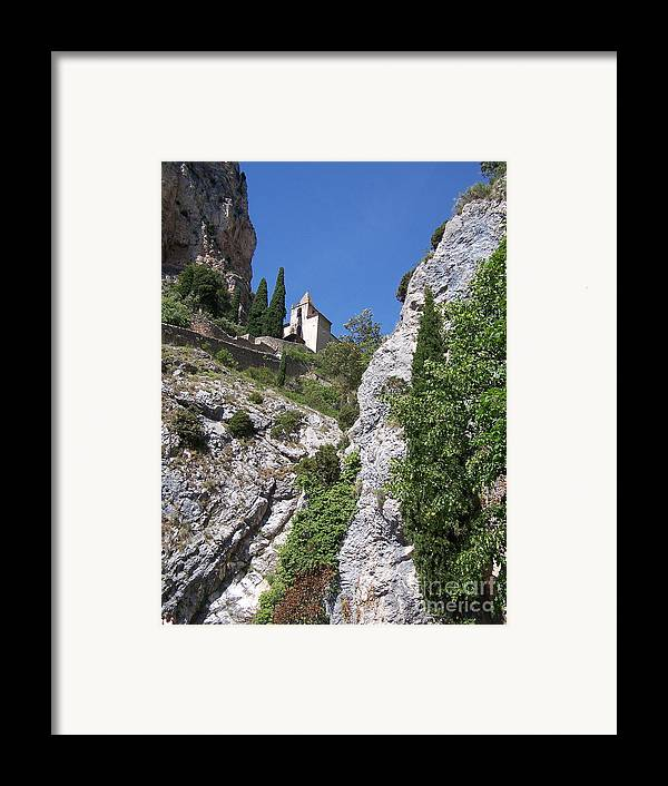 Church Framed Print featuring the photograph Moustier St. Marie Church by Nadine Rippelmeyer